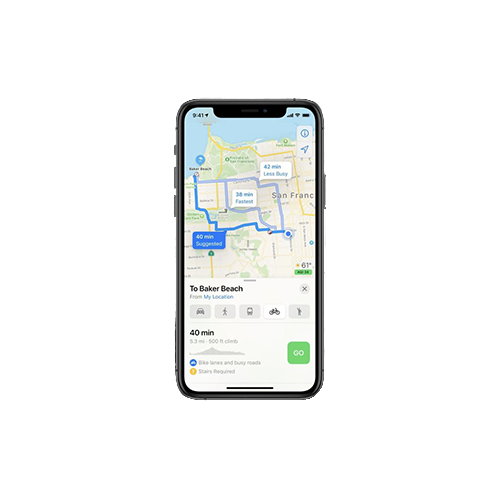 fietsroute iOS 14