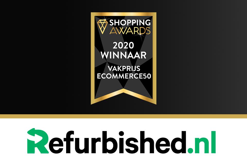 Shopping Awards 2020 winnaar refurbished.nl