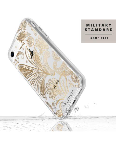 Extra Beschermende Backcover iPhone SE (2020) / 8 / 7 / 6(s) - Paisley Gold