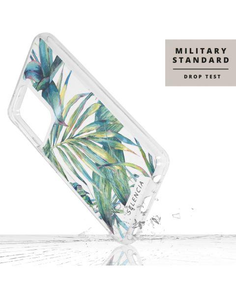 Fashion Extra Beschermende Backcover Galaxy A52 5G / A52 4G - Green Jungle Leaves