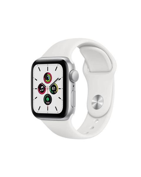 Refurbished Apple Watch Series SE 40mm | Aluminium Case Zilver | wit sportbandje