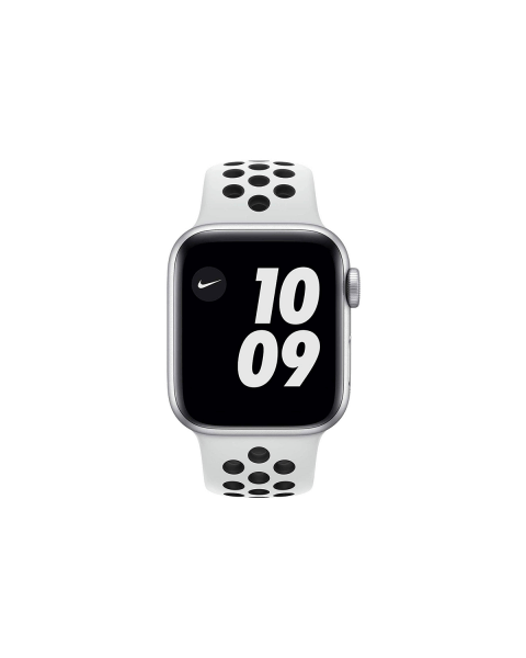 Refurbished Apple Watch Series 4 44mm Nike+ GPS Aluminium Case Zilver met wit sportbandje