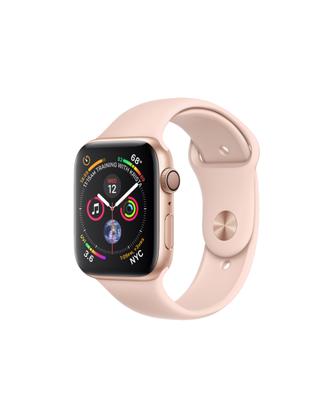 Refurbished Apple Watch Series 4 40mm GPS Aluminum Case Goud met roze sportbandje