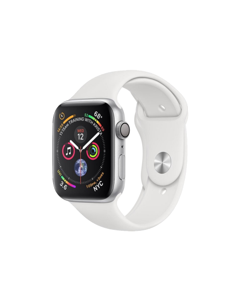 Refurbished Apple Watch Series 4 40mm GPS Aluminum Case Zilver met wit sportbandje