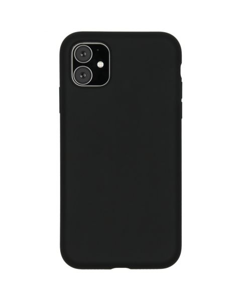 Liquid Silicone Backcover iPhone 11 - Zwart - Zwart / Black
