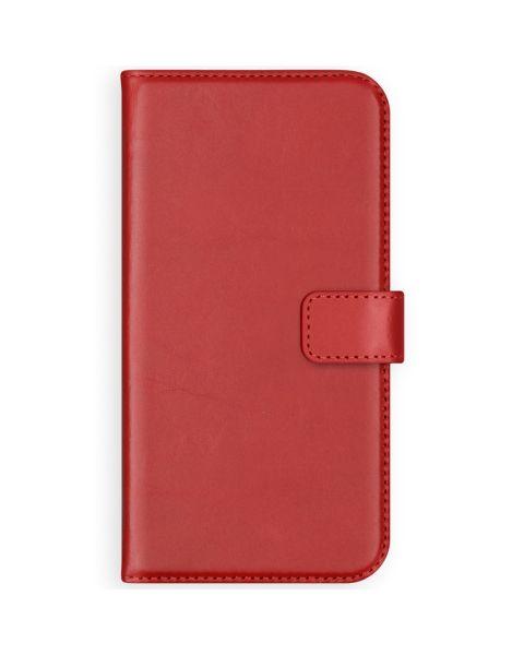 Echt Lederen Booktype iPhone Xr - Rood / Red