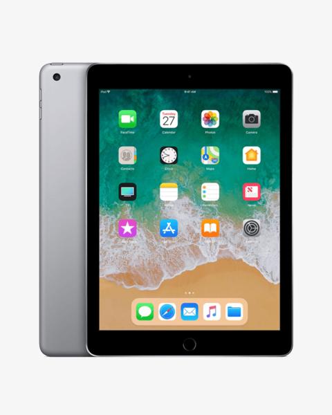 Refurbished iPad 2018 128GB WiFi zwart/space grijs