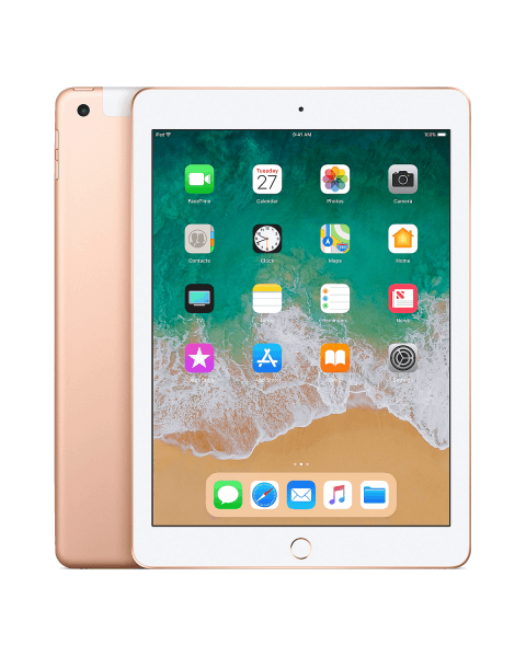 Refurbished iPad 2018 32GB WiFi + 4G goud