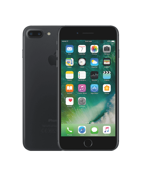 Refurbished iPhone 7 plus 128GB matzwart