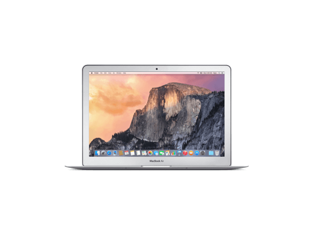 MacBook Air 13-inch Core i5 1.6 GHz 128 GB SSD 4 GB RAM Zilver (Early 2015) A-grade