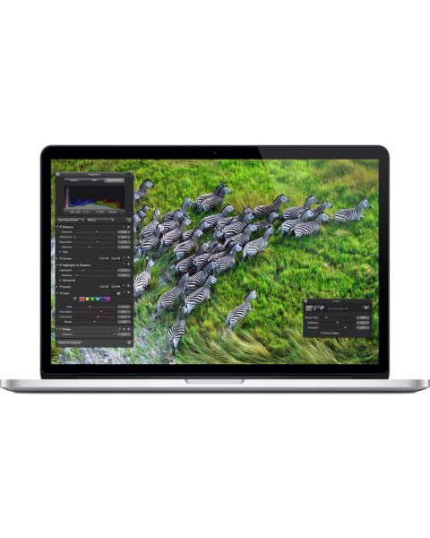 MacBook Pro 15-inch | Core i7 2.3 GHz | 500GB SSD | 16GB RAM | Zilver (Late 2013)