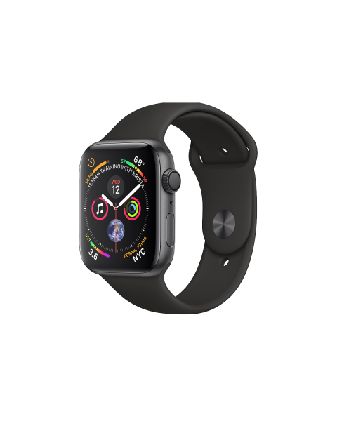 Refurbished Apple Watch Series 4 40mm GPS Aluminum Case Spacegrijs met zwart sportbandje