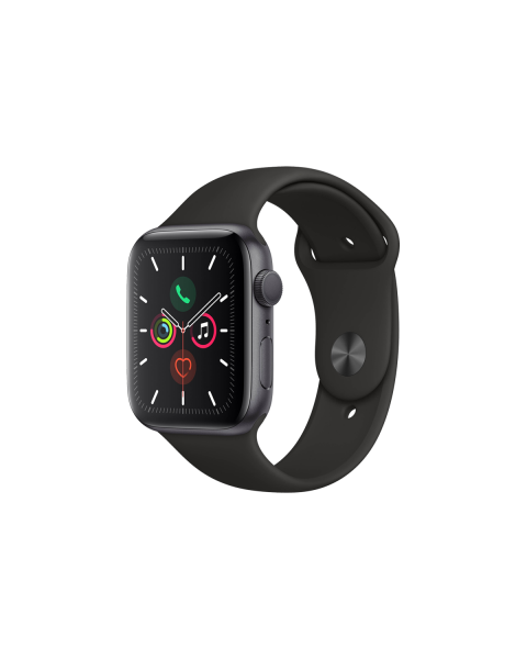 Refurbished Apple Watch Series 5 40mm GPS Aluminum Case Spacegrijs met zwart sportbandje