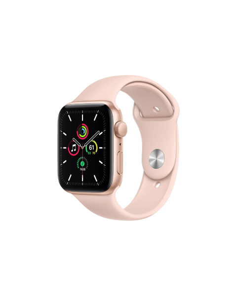 Refurbished Apple Watch Series 5 40mm GPS Aluminum Case Goud met roze sportbandje