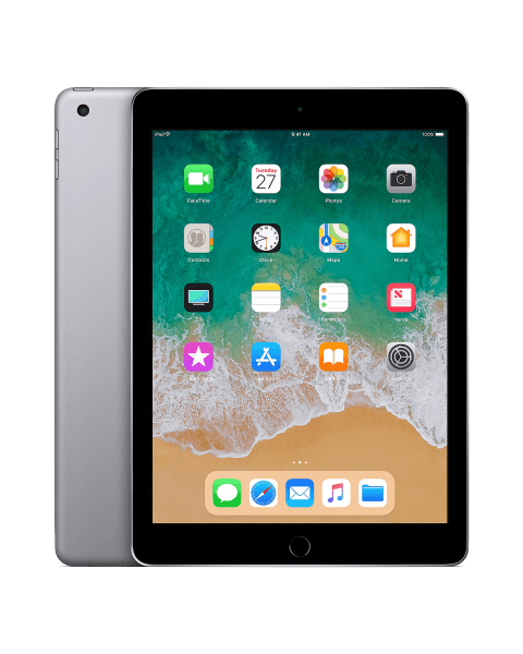 Refurbished iPad 2018 128GB WiFi zwart/space grijs