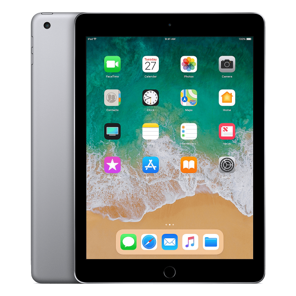 Refurbished iPad 2018 32GB WiFi + 4G zwart/space grijs