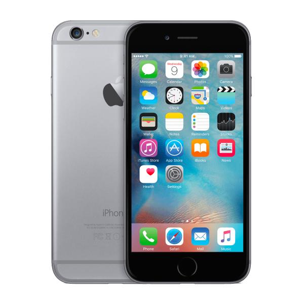 Refurbished iPhone 6 16GB zwart/space grijs