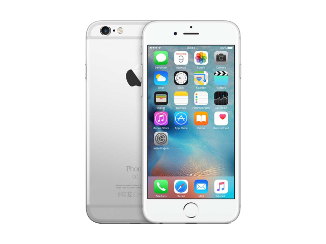 Refurbished iPhone 6S 32GB zilver A-grade