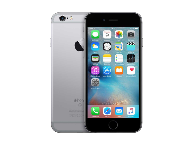 Refurbished iPhone 6S 128GB zwart/space grijs A-grade