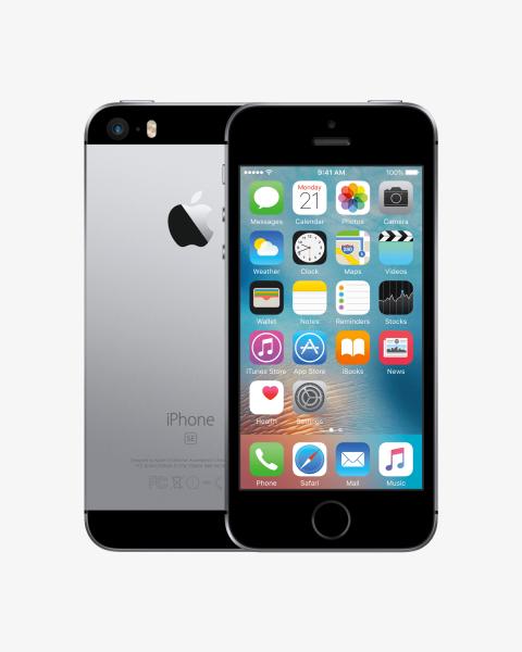 Refurbished iPhone SE 128GB zwart/space grijs
