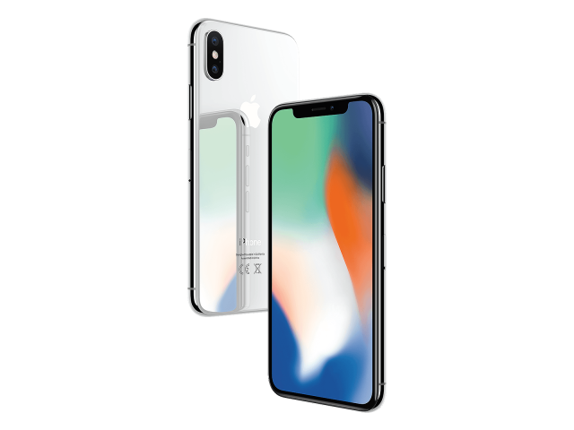 Refurbished iPhone X 256GB silver C-grade