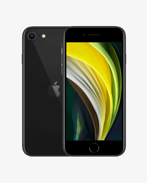 Refurbished iPhone SE 256GB zwart (2020)